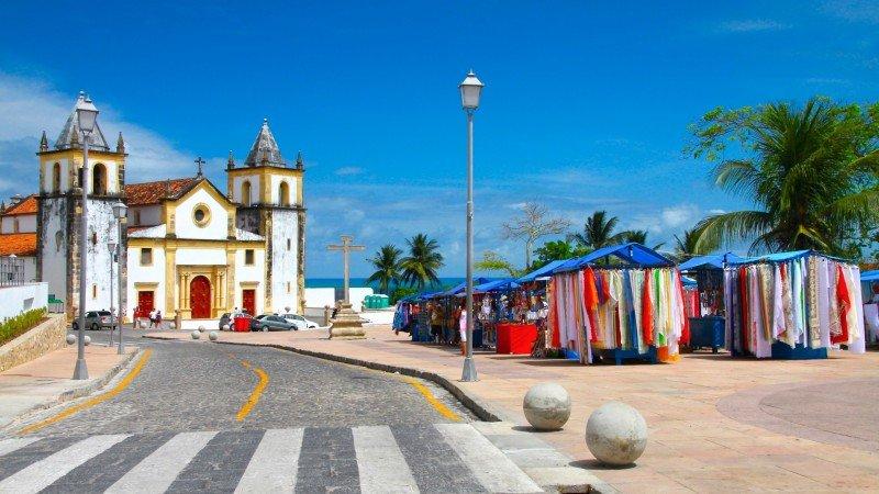 Igreja em Olinda Pernambuco centro histórico viagem
