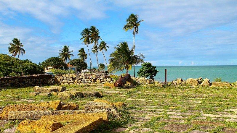 Forte Orange Ilha de Itamaracá litoral norte de Pernambuco praias