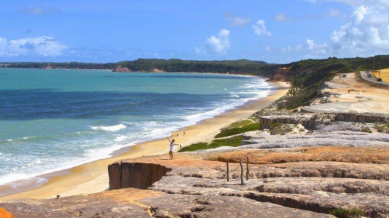 Praia de Pipa o que fazer Tibau do Sul praias RN dicas viagem nordeste praias férias passeios dicas praia de Cacimbinhas