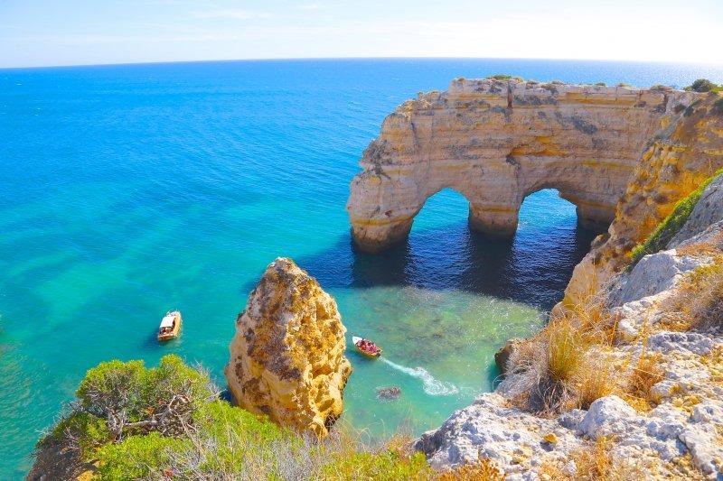 melhores praias em Lagoa Algarve turismo praias dicas de lugares no Algarve Portugal