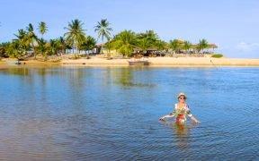 melhores praias de Alagoas Nordeste Maragogi, praia do Carro Quebrado, praia do Patacho, Dunas de Marapé, praia do Gunga