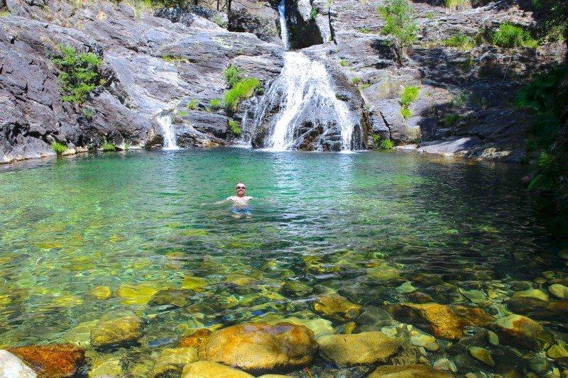 cascatas e lagoas da Serra d'Arga